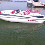 Jet boat Colunna vector